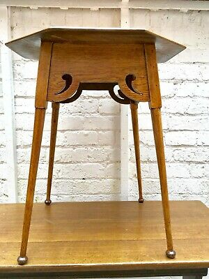 Arts and Crafts Octagonal Oak Side Table