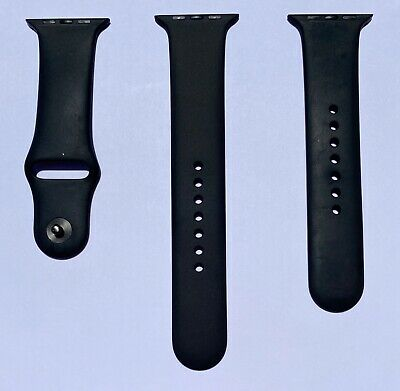 Apple Watch Black Sport Band Space Gray Pin Series 0 1 2 3 42mm 4 5 44mm Genuine