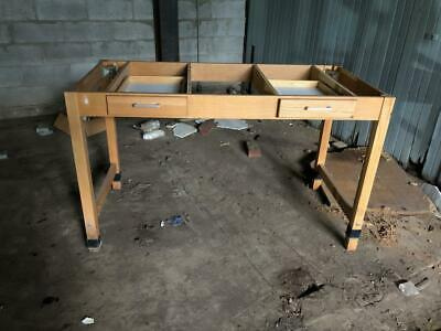 Nice wood lab desk frame with 2 drawers