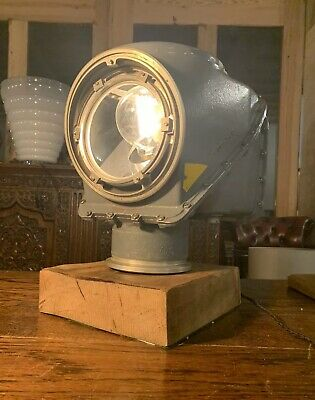 Royal Navy Radar Light, Explosion Proof Table Lamp, Industrial Military Man Cave