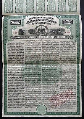 1908 Mexico: Encouragement of Irrigation Works and Development of Agriculture