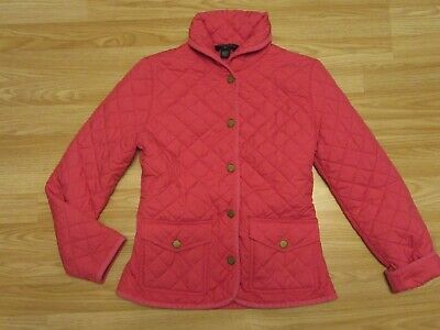 Girls RALPH LAUREN Pink Quilted Jacket Coat Size XL (16) 12-14 years yrs VGC