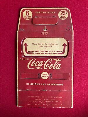 "1930's, Coca-Cola, ""6-Pack"" Cardboard Carrier (Scarce / Vintage)"