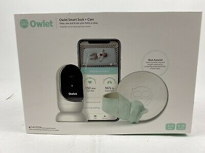 BRAND NEW Owlet Smart Sock 2 Baby Monitor Duo - Sock + Cam - Mint Condition