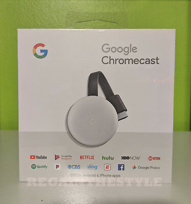 Google - Chromecast 3rd Generazione Streaming Media Player - Gesso Grigio
