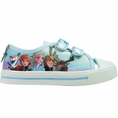Girls Infant Chatterbox Canvas Denim Low Top Slip On Pumps Princess Trainers