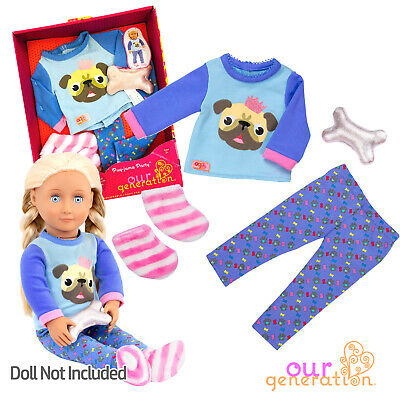 OUR GENERATION DOLL - PUG-JAMA Pug Pet Bedtime PYJAMA Outfit - American Girl