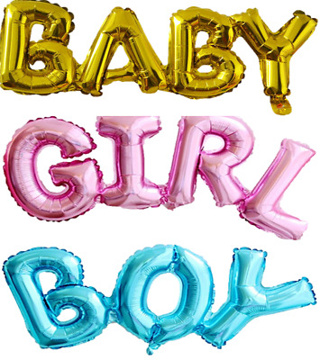 Boy Or Girl Balloons Letters Aluminium Foil Baby Shower Decorations