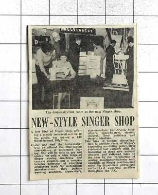1961 New Kind Of Singer Sewing Machine Shop Open Western Road Brighton