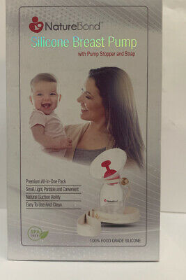 Nature Bond Silicone Manual Breast Pump Breastfeeding - USED CONDITION