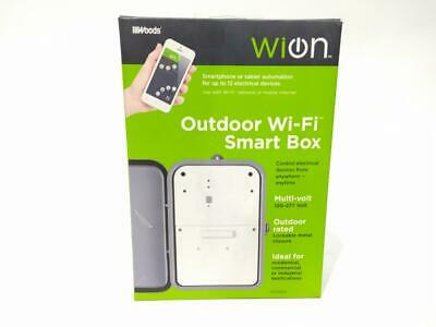 WiOn 50054 Outdoor Wi-Fi Smart Box, Wireless Time Switch Used
