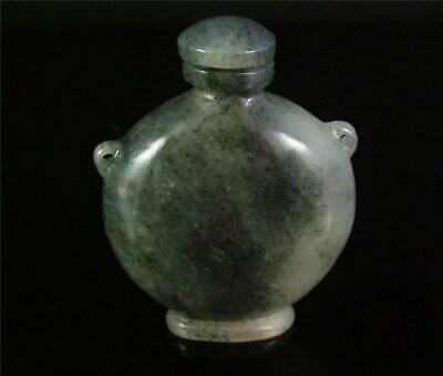 Antique Old Chinese Celadon Nephrite Jade Carved Snuff Bottle DELICATE STYLE