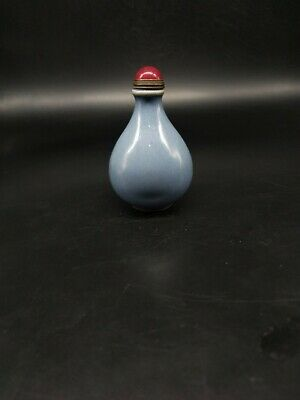 China High-end ceramic gray snuff bottle exquisite antique gift collection