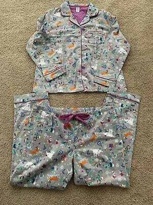 Target Womens Gray Flannel Pajama Set  With Winter Dogs Size Xxl ~ Nwot