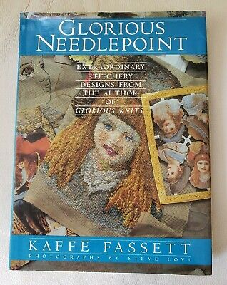 Signed Glorious Needlepoint Hard Cover Illustrated Book w Patterns Kaffe Fassett
