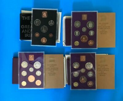 4~ Sets, United Kingdom Proof Coin Sets from The British Royal Mint        m