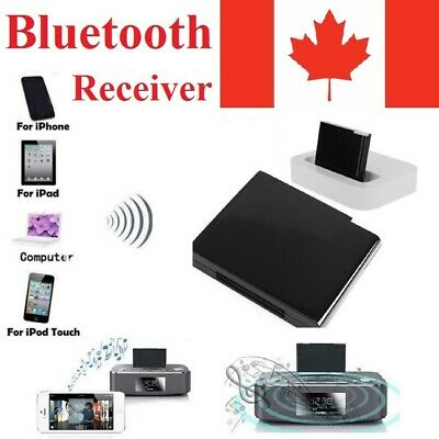 Bluetooth 4.1 Music Receiver Audio Adapter for 30 Pin Dock iPod iPhone Speaker