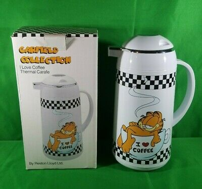 """Rare Garfield Collection """"I Love Coffee""""  Thermal Carafe - Never Used- With Box"""