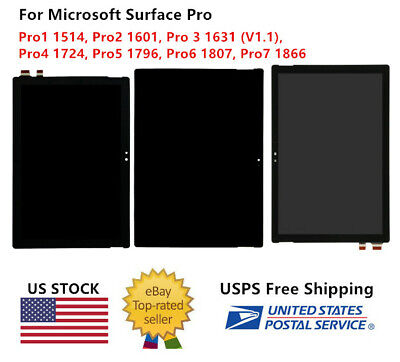 WOW For Microsoft Surface Pro 1 2 3 4 5 6 7 LCD TOUCH SCREEN DIGITIZER REPLACE