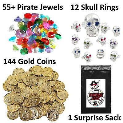 Ultimate Acrylic Gem Mix Pirate Treasure Chest Filler Doubloon Party Favor BULK