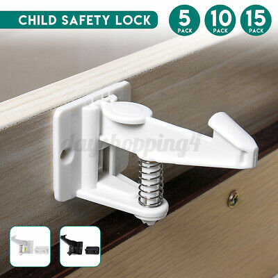 Child Baby Safety Locks Catch Adhesive Cabinet Drawer Cupboard Latches