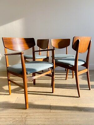 Retro vintage mid century set of 4 butterfly style chairs