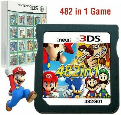 482 in 1 Game For NDS NDSL 2DS 3DS 3DSLL NDSI Super Mario Video Game Cartridge