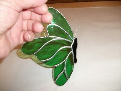 Stained Glass handmade larg butterfly sun-catcher / window decoration