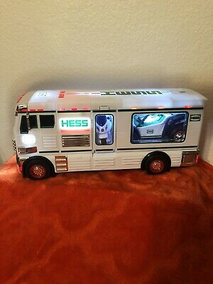 2018 HESS TOY TRUCK WITH ATV & MOTORCYCLE New WO Box EUC CL
