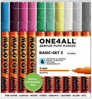 Molotow One4All 127Hs - 10 Piece Drawing Marker Pen Set - Basic Set 3