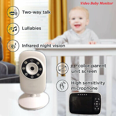 """3.5"""" 2.4GHz Baby Monitor Wireless LCD Screen Night Vision Home Safe Video Camera"""