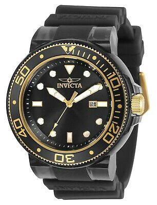Invicta Men's Pro Diver 32337 51.5mm Black Dial Silicone Watch