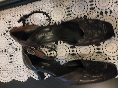 PAUL GREEN Edle Sommer Pumps aus Leder in schwarz Gr. 40 6