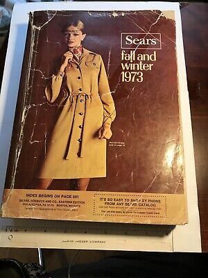 Vintage Sears Catalog 1973 Fall Winter