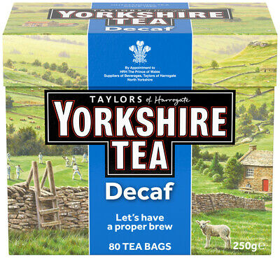 Yorkshire Everyday Tea Bags Decaffeinated x80