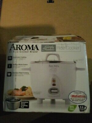 Aroma ARC-753SG Simply Stainless Rice Cooker - White Open Box