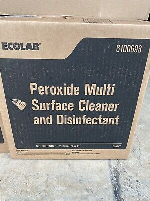 Ecolab 6100693 Peroxide Multi-surface Cleaner & Disinfectant Fast Free Shipping