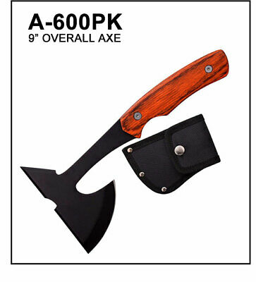 """9"""" Tactical Survival Throwing Axe Hatchet Tomahawk W/wood handle-A600"""