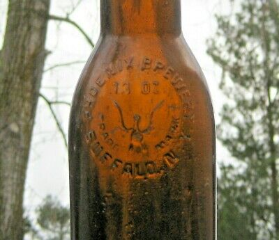 Phoenix Brewery Buffalo Ny Antique Amber Glass Beer Bottle