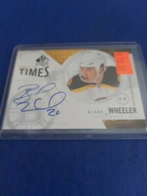2009-10 SP Authentic Sign Of The Times Blake Wheeler Autograph card ST-BW
