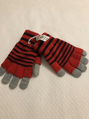 2 IN 1 STRETCH GLOVES Youth 2 Gloves In 1 Fingerless And Regular Red Blue Gray
