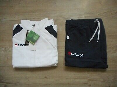 Brand New Sealed Legea Relax Line XS White & Blue Tracksuit BNWT
