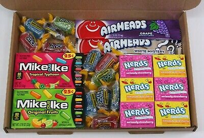 American sweets gift box - USA candy hamper - nerds -  Jolly ranchers - airheads
