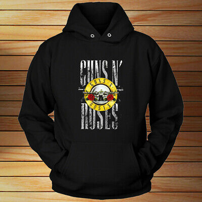 GUN AND ROSES BULLET LOGO - Unisex HOODIE Black All Size
