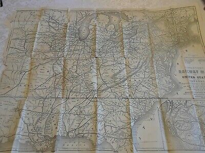 Antique Appleton's Railway Map Of The United States And Canadas G F Thomas 1864?