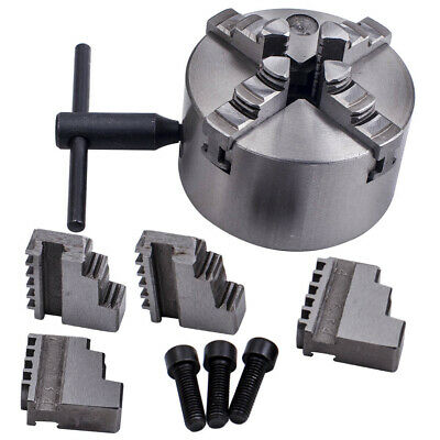 K12-100 100mm Metal 4 Jaw Self-Centering Chuck with Spare Jaws fr Lathe Milling