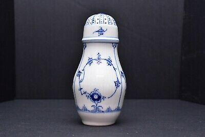 "Vintage Beautiful Royal Copenhagen Blue Fluted Half Lace Sugar Shaker 6.5"" Tall"