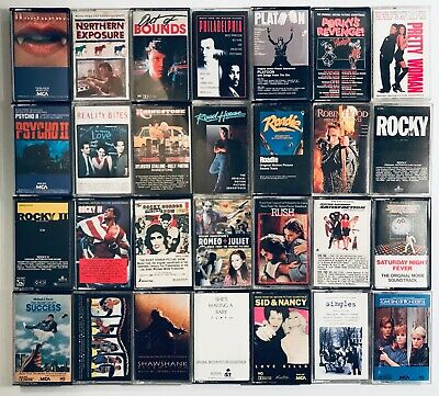 You Pick Cassette Tapes Lot: Movie Soundtracks, TV, Film, Horror, Hughes, 80s