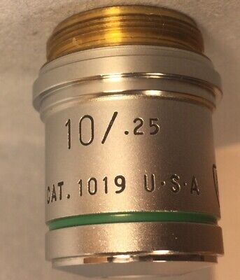 American Optical AO Plan Achro 10x/.25 CAT 1019 Microscope Objective Infty Corr