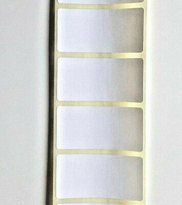 100 WHITE 25mm x 50mm ADHESIVE WRITE ON FOOD LABELS STICKERS